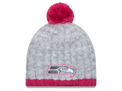 Seattle Seahawks NFL 2015 Women's Breast Cancer Awareness Knit Hats