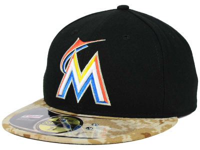Miami Marlins MLB 2015 Memorial Day Stars and Stripes 59FIFTY Cap Hats