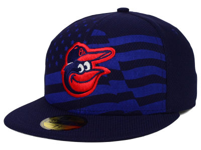 Baltimore Orioles MLB 2015 July 4th Stars & Stripes 59FIFTY Cap Hats