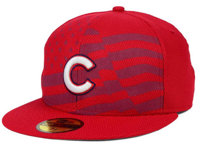 Chicago Cubs MLB 2015 July 4th Stars & Stripes 59FIFTY Cap Hats