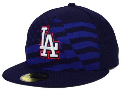 Los Angeles Dodgers MLB 2015 July 4th Stars & Stripes 59FIFTY Cap Hats