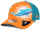 Miami Dolphins New Era NFL Logo Blimp 39THIRTY Cap Stretch Fitted Hats