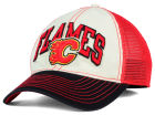 Calgary Flames Reebok NHL 2015 Felt Mesh Slouch Cap Stretch Fitted Hats