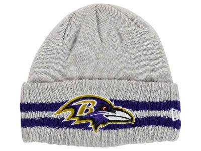 Baltimore Ravens NFL 2 Striped Cuff Knit Hats