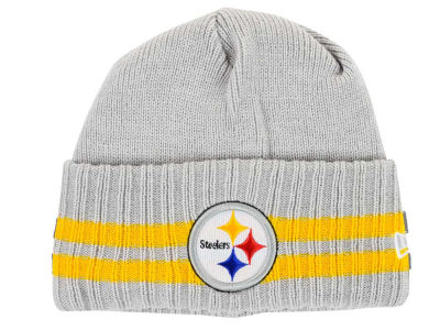 Pittsburgh Steelers NFL 2 Striped Cuff Knit Hats