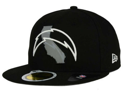 Los Angeles Chargers NFL State Flective Redux 59FIFTY Cap Hats