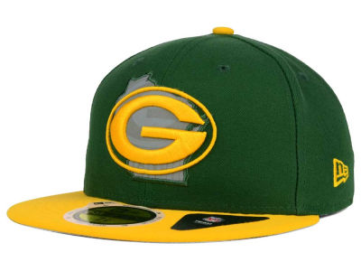 Green Bay Packers NFL State Flective Redux 59FIFTY Cap Hats