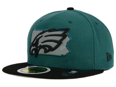Philadelphia Eagles NFL State Flective Redux 59FIFTY Cap Hats