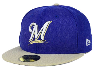 Milwaukee Brewers MLB Heather Action 59FIFTY Cap Hats