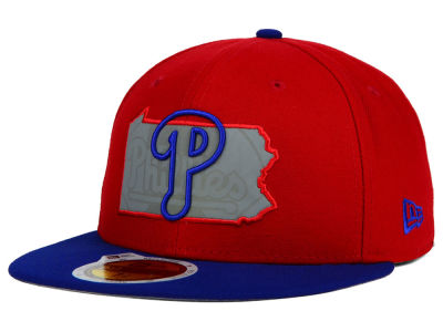 Philadelphia Phillies MLB State Reflective Redux 59FIFTY Cap Hats