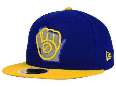 Milwaukee Brewers MLB State Reflective Redux 59FIFTY Cap Hats