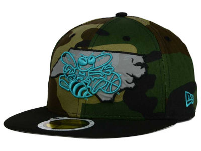 Charlotte Hornets NBA HWC State Reflective Redux 59FIFTY Cap Hats