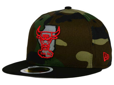 Chicago Bulls NBA HWC State Reflective Redux 59FIFTY Cap Hats