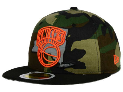 New York Knicks NBA HWC State Reflective Redux 59FIFTY Cap Hats