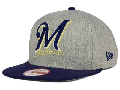 Milwaukee Brewers MLB Logo Grand 9FIFTY Snapback Cap Hats