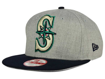 Seattle Mariners MLB Logo Grand 9FIFTY Snapback Cap Hats
