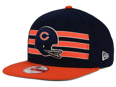 Chicago Bears NFL Retro Striped 9FIFTY Snapback Cap Hats