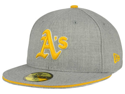 Oakland Athletics MLB Heather Slice 59FIFTY Cap Hats