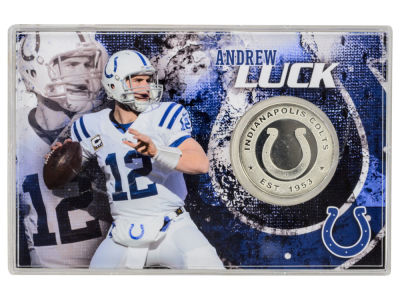 Highland Mint Andrew Luck Coin Card-Silver