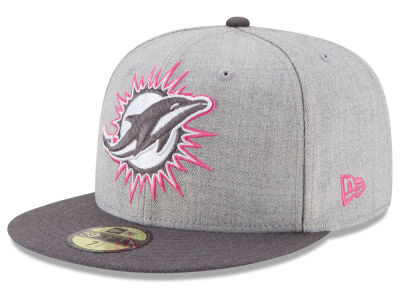 Miami Dolphins NFL 2015 Breast Cancer Awareness 59FIFTY Cap Hats