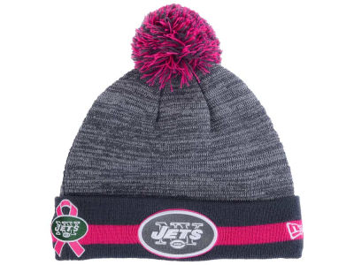 New York Jets NFL 2015 Breast Cancer Awareness Sport Knit Hats
