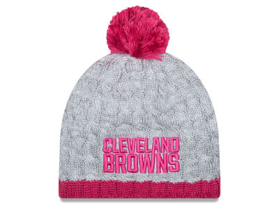 Cleveland Browns NFL 2015 Women's Breast Cancer Awareness Knit Hats