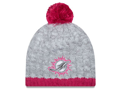 Miami Dolphins NFL 2015 Women's Breast Cancer Awareness Knit Hats
