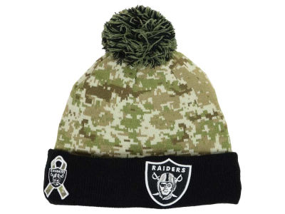 Oakland Raiders NFL 2015 Salute to Service Knit Hats