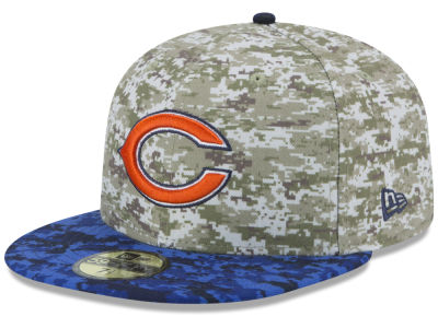 Chicago Bears NFL 2015 Salute to Service 59FIFTY Cap Hats