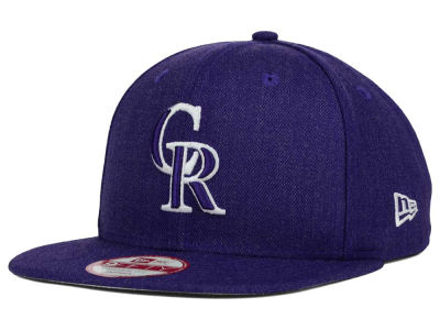 Colorado Rockies MLB Heather C-Dub 9FIFTY Snapback Cap Hats
