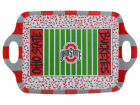 Ohio State Buckeyes Melamine Football Field Tray Kitchen & Bar
