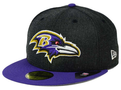 Baltimore Ravens NFL Heather Action 2 Tone 59FIFTY Cap Hats