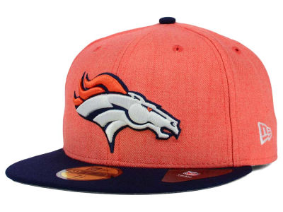 Denver Broncos NFL Heather Action 2 Tone 59FIFTY Cap Hats