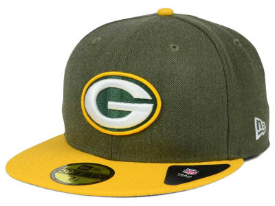 Green Bay Packers NFL Heather Action 2 Tone 59FIFTY Cap Hats