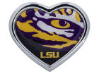 LSU Tigers Heart Metal Auto Emblem Auto Accessories