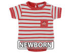 Ohio State Buckeyes NCAA Newborn Girls Pin Dot Stripe Creeper Set Infant Apparel