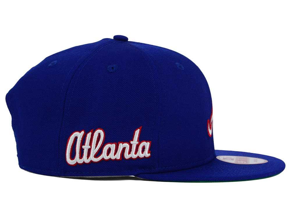 2d61394cdf5 Atlanta Braves New Era MLB 2 Tone Link Cooperstown 9FIFTY Snapback Cap chic