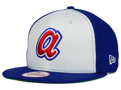 Atlanta Braves MLB 2 Tone Link Cooperstown 9FIFTY Snapback Cap Hats