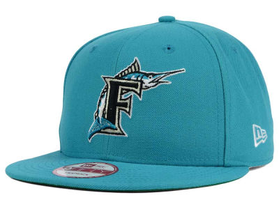 Florida Marlins MLB 2 Tone Link Cooperstown 9FIFTY Snapback Cap Hats