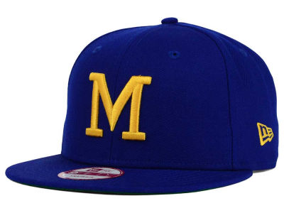 Milwaukee Brewers MLB 2 Tone Link Cooperstown 9FIFTY Snapback Cap Hats