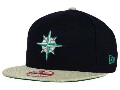Seattle Mariners MLB 2 Tone Link Cooperstown 9FIFTY Snapback Cap Hats