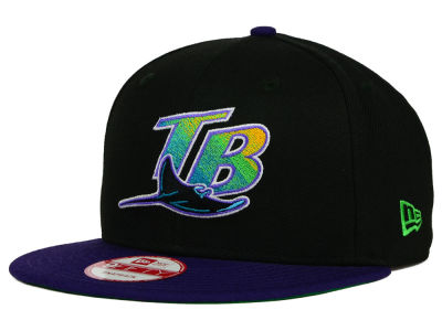Tampa Bay Rays MLB 2 Tone Link Cooperstown 9FIFTY Snapback Cap Hats