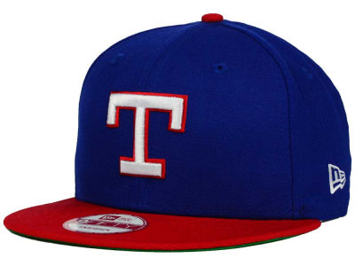Texas Rangers MLB 2 Tone Link Cooperstown 9FIFTY Snapback Cap Hats