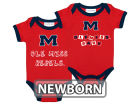 Ole Miss Rebels NCAA Newborn 2 Pack Contrast Creeper Infant Apparel