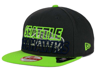 Seattle Seahawks NFL Graph Outline 9FIFTY Snapback Cap Hats