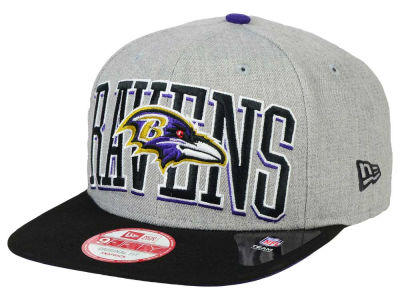 Baltimore Ravens NFL Heather Wordmark 9FIFTY Snapback Cap Hats