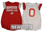 Ohio State Buckeyes Outerstuff NCAA Newborn Girls Polka Fan Set Outfits