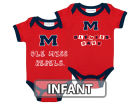 Ole Miss Rebels NCAA Infant 2 Pack Contrast Creeper Infant Apparel