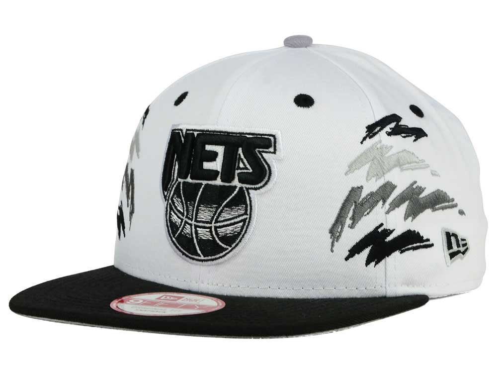 finest selection a167d d6ea1 60%OFF New Jersey Nets New Era NBA HWC Old Cool 9FIFTY Snapback Cap