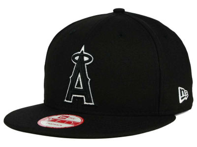 Los Angeles Angels MLB Black White 9FIFTY Snapback Cap Hats